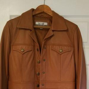 Womens Nine West leather jacket